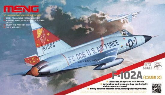 Meng Model F-102A (CASE X) makett