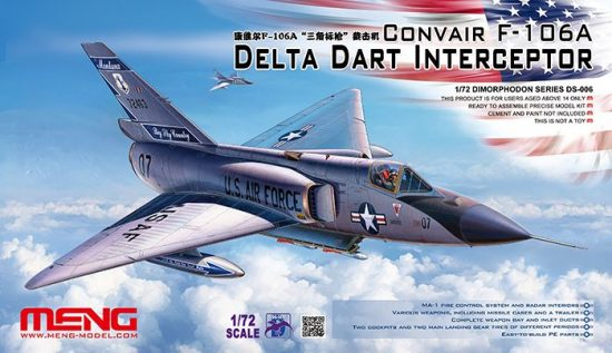 Meng Model CONVAIR F-106A Delta Dart Interceptor makett