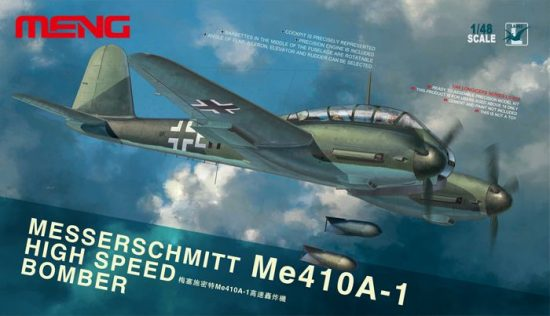 Meng Model MESSERSCHMITT Me410A-1 HIGH SPEED BOMBER makett