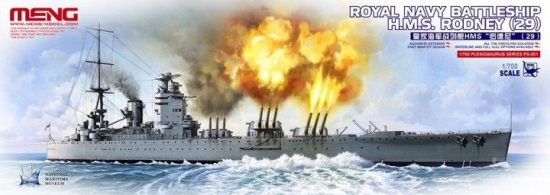 Meng Model Royal Navy Battleship H.M.S.Rodney (29) makett