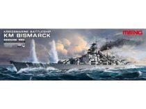 Meng Model Kriegsmarine Battleship KM Bismarck makett