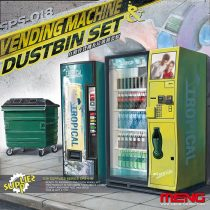 Meng Model Vending Machine and Dumpster Set