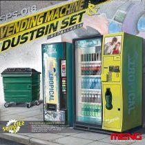 Meng Model Vending Machine and Dumpster Set