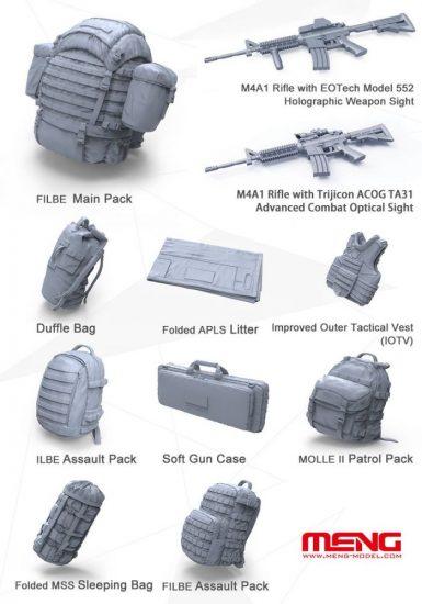 Meng Model U.S.Marines Individual Load-Carry Carrying Equipment
