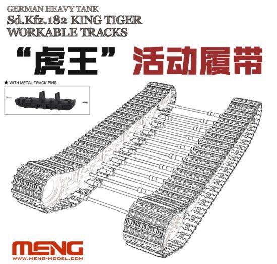 Meng Model German Sd.Kfz.182 King Tiger (Henschel Turret) Workable Tracks