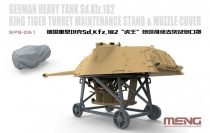 Meng Model German Heavy Tank Sd.Kfz.182 King Tiger Turret Maintenance Stand&Muzzle Cover