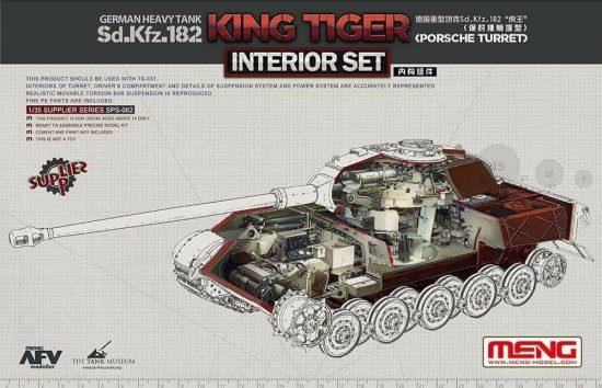 Meng Model German Sd.Kfz.182 King Tiger (Porsche Turret) Interior Set