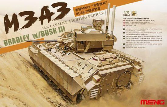 Meng Model M3A3 BRADLEY W/BUSK III U.S. CAVARLY FIGHTING VEHICLE