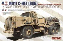 Meng Model U.S. M911C-HET 8x6 & M747 Heavy Equipment Semi Trailer makett