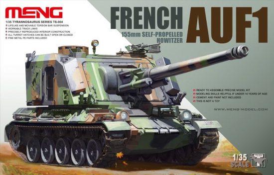 Meng Model French AUF1 155mm Self-propelled Howitzer makett