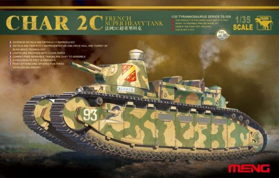 Meng Model French Super Heavy Tank Char 2C makett