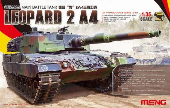 Meng Model German Main Battle Tank Leopard 2 A4 makett