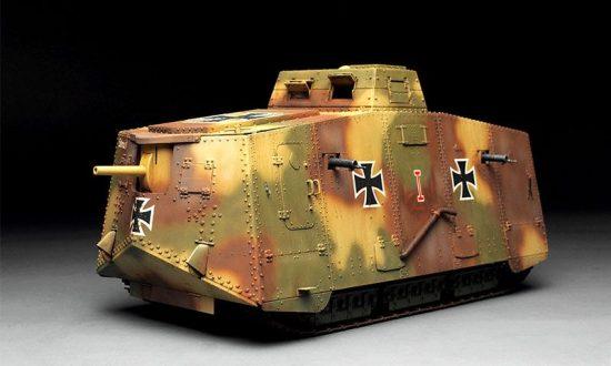 Meng Model German A7V tank (Krupp) makett