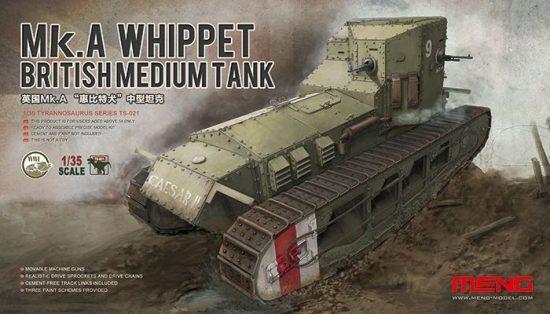 Meng Model British Medium Tank Mk.A Whippet makett