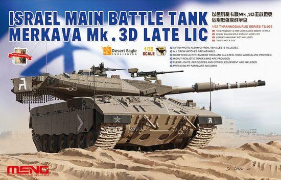 Meng Model Israel Main Battle Tank Merkava Mk.3D Late Lic makett