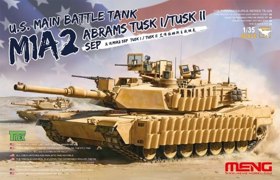 Meng Model M1A2 SEP Abrams TUSK I/TUSK II makett