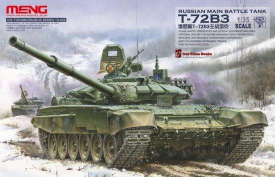 Meng Model Russian T-72B3 MBT makett