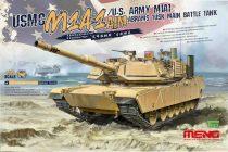 Meng Model USMC M1A1 AIM/U.S.Army M1A1 Abrams TUSK Main Battle Tank makett