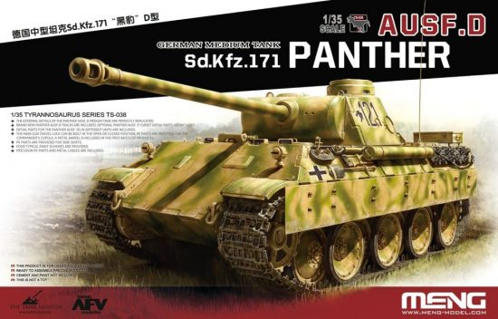 Meng Model German Medium Tank Sd.Kfz.171 Panther Ausf.D makett