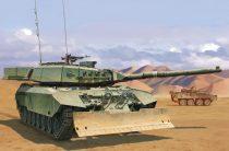 Meng Model Canadian MBT Leopard C2 MEXAS w/Dozer Blade makett