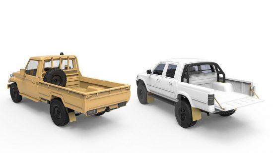 Meng Model Pick Up Set makett
