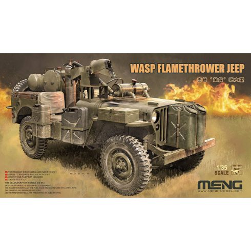 Meng Model WASP Flamethrower Jeep makett