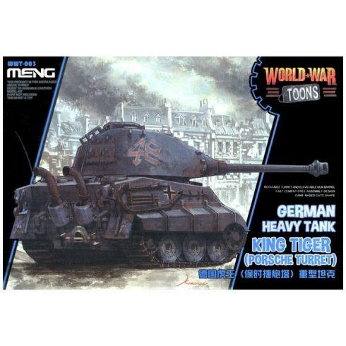 Meng Model German Heavy Tank King Tiger (Porsche Turret) makett