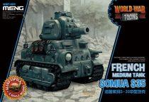 Meng Model French Medium Tank Somua S-35 Cartoon makett