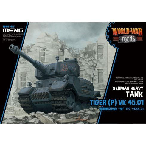 Meng Model Germany Heavy Tank Tiger (P) Cartoon makett