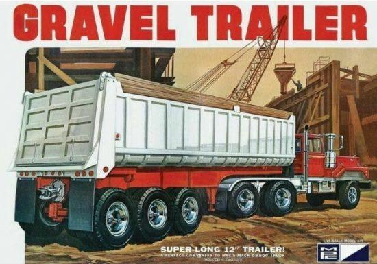 MPC 3 Axle Gravel Trailer makett