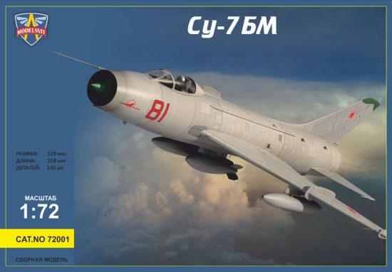 Modelsvit Sukhoi Su-7BM Soviet fighter-bomber,Re-r makett