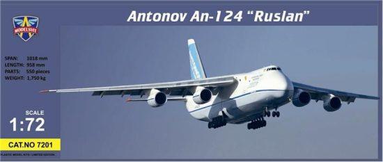 Modelsvit Antonov An-124-100 Ruslan cargo aircraft makett