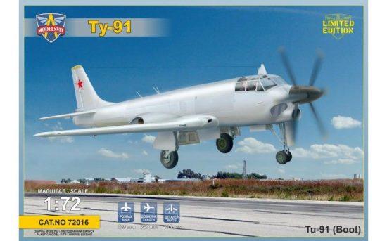 Modelsvit Tupolev Tu-91 Boot Soviet naval attack aircraft makett