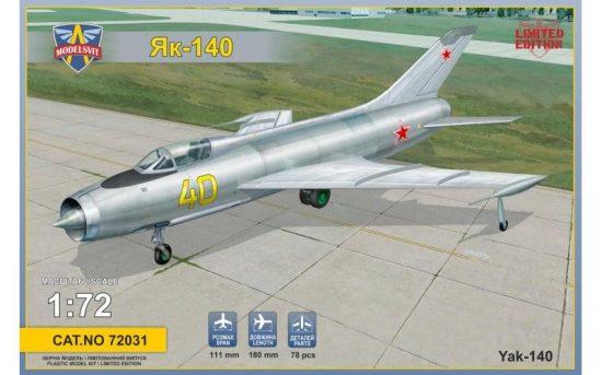 Modelsvit Ykovlev Yak-140 Soviet prototype fighter makett