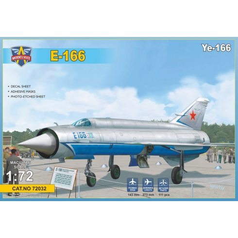 Modelsvit Ye-166 Heavy experimental interceptor makett