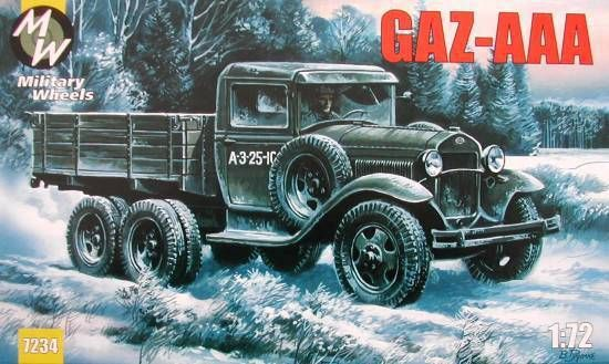 Military Wheels GAZ-AAA makett