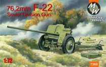 Military Wheels F-22 Soviet 76, 2mm division gun makett