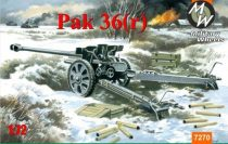 Military Wheels Pak 36r Germann gun makett