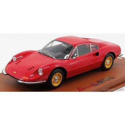BBR Models FERRARI DINO 246GT TIPO 607L 1969 - YELLOW RIMS - CON VETRINA - WITH SHOWCASE