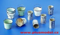Plus Model Metal buckets and cans