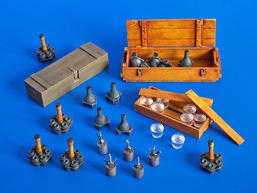 Plus Model German grenades and mines