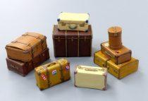Plus Model Old suitcases