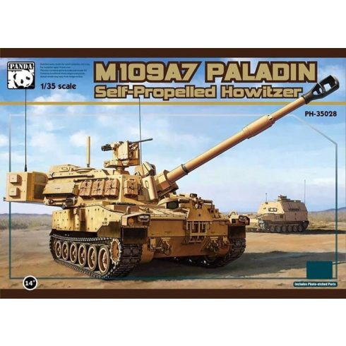 Panda Hobby M109A7 Paladin SPH with metal track link makett