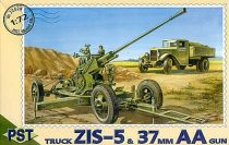 PST 37mm AA gun with ZIS-5 truck makett