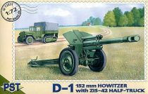 PST 152mm Howitzer with Russian ZIS-42 half truck makett