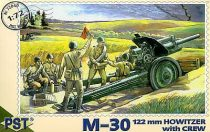 PST M30 122mm Howitzer with crew makett