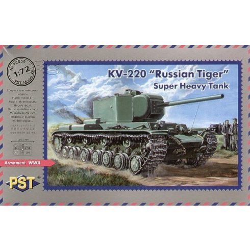 PST Russian KV-220 Russian Tiger Heavy Tank makett