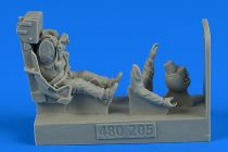 Aerobonus USAF Fighter Pilot with ejection seat for Lockheed F-80A Shooting Star (Hobby Boss, Monogram)