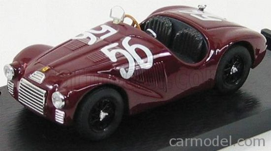 BRUMM FERRARI 125S N 56 FIRST WINNER (PRIMA VITTORIA) FERRARI GP ROMA 1947 FRANCO CORTESE