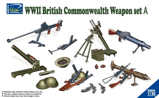 Rich Models WWII British Commonwealth Weapon Set A